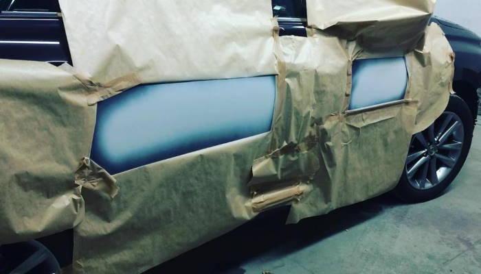 Частичная покраска авто