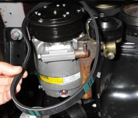 chevrolet niva zamena remnya kondicionera 2 - Схема установки ремня генератора на шевроле нива